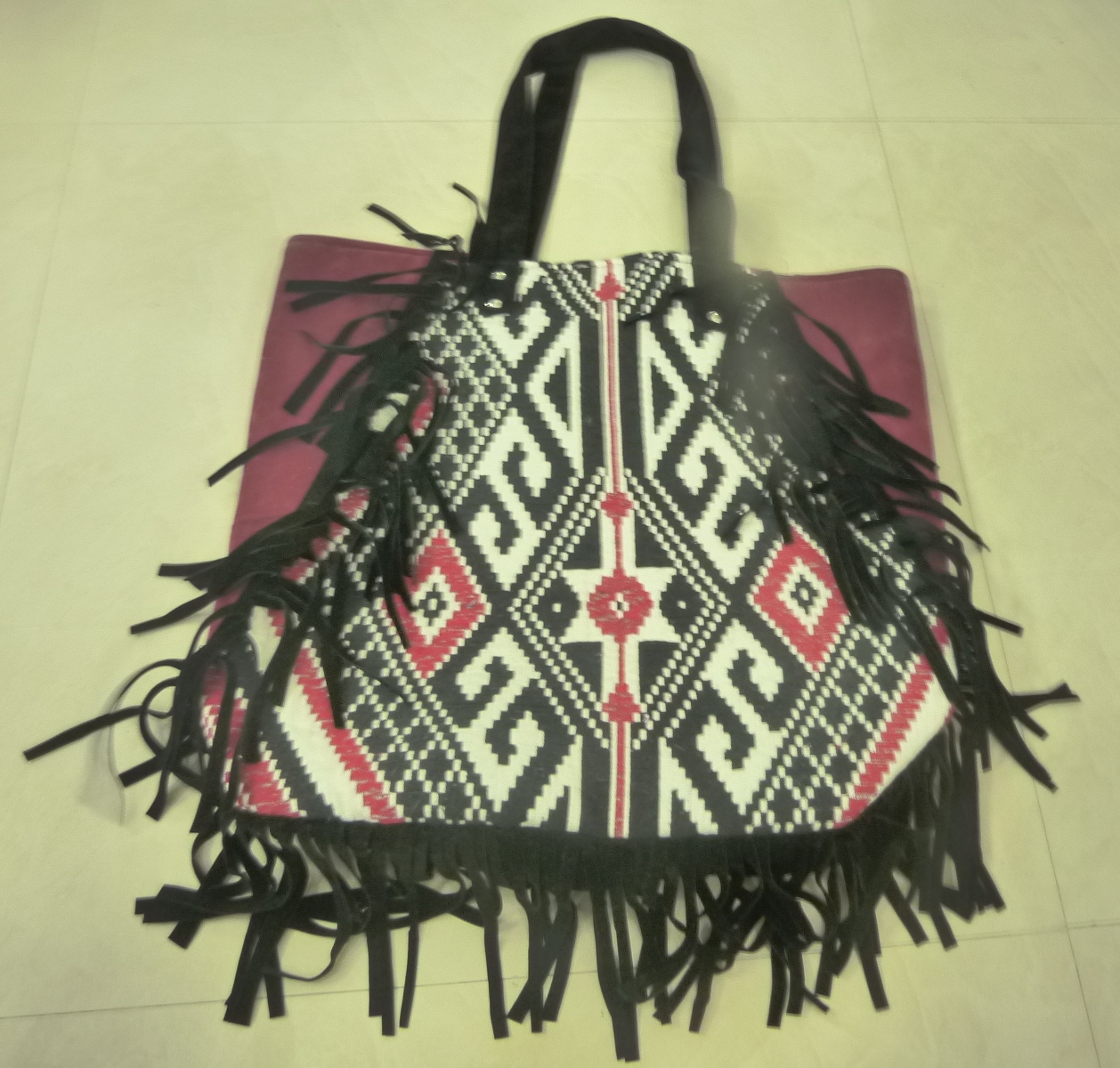 COTTON BAG WITH FRINGES